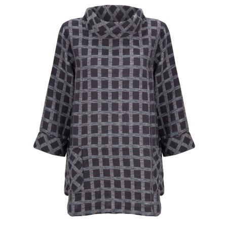 Sahara Cotton Ikat Check Tunic - Multicoloured