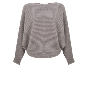 Amazing Woman  Serendipity Batwing Cross Ribbed Jumper