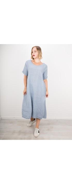 Amazing Woman Tesa Midi Linen dress  Denim Blue
