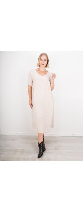 Amazing Woman Tesa Midi Linen dress  Natural