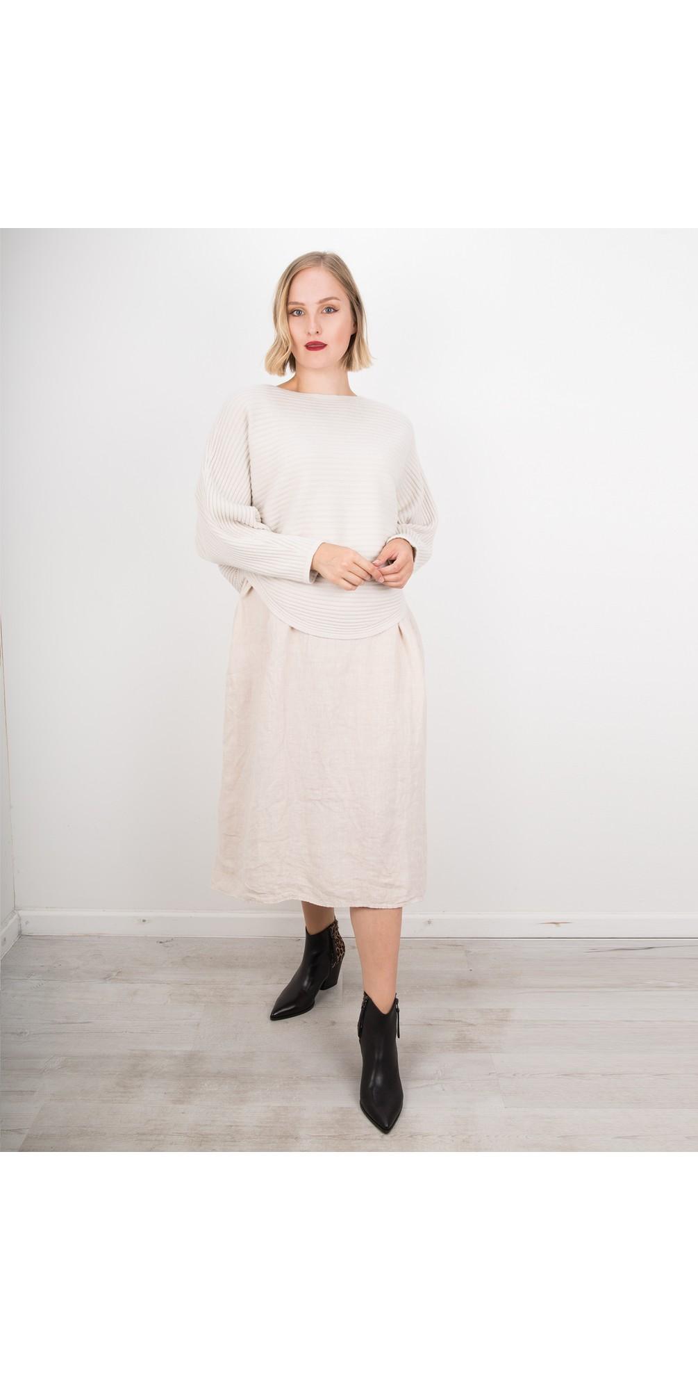 Tesa Midi Natural Linen dress main image