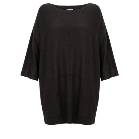Thing Oversized Supersoft Fleece Slouch Top - Black