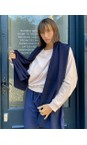 Chalk Navy Suzy Supersoft Knit Scarf