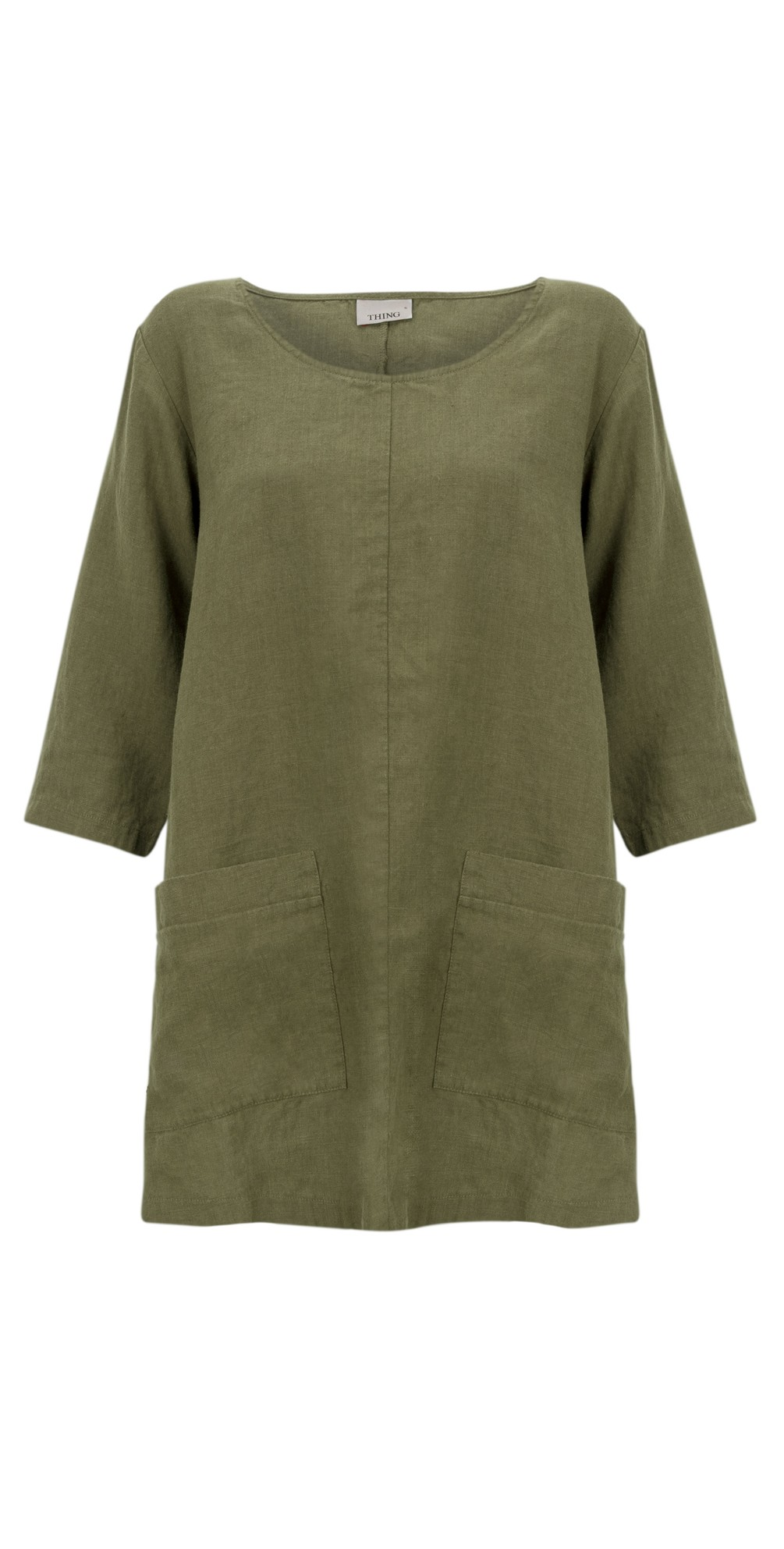 Two Pocket Winter Linen Top main image