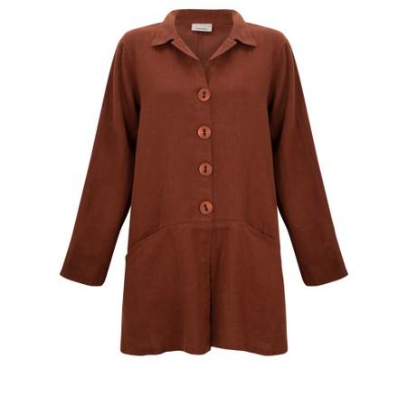 Thing Jet Pocket Winter Linen Jacket - Brown