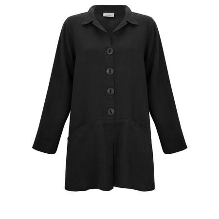 Thing Jet Pocket Winter Linen Jacket - Black