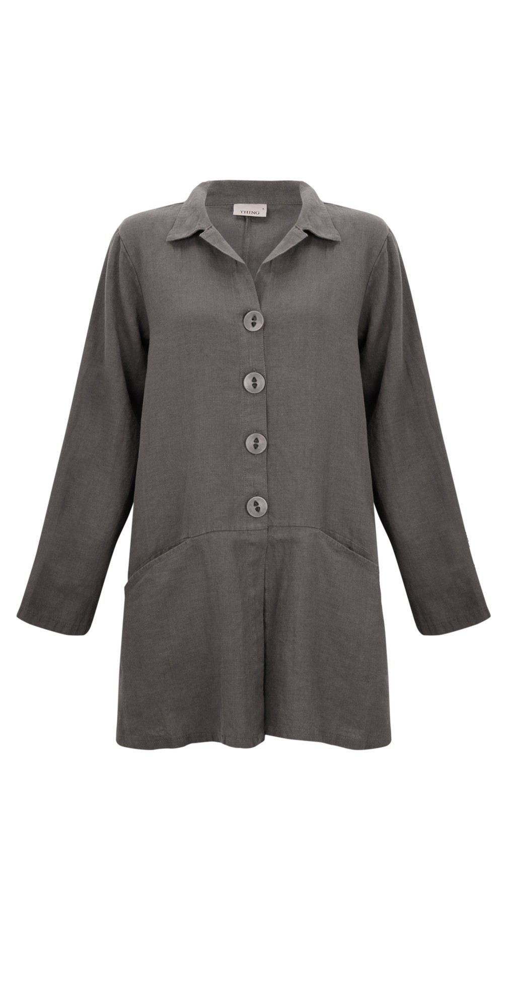 Jet Pocket Winter Linen Jacket main image
