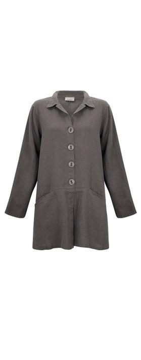Thing Jet Pocket Winter Linen Jacket Ash