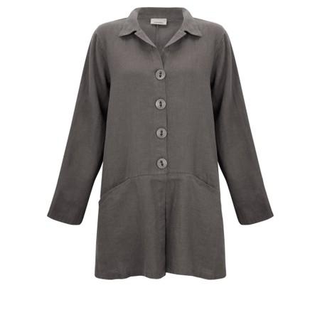 Thing Jet Pocket Winter Linen Jacket - Grey