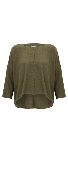 Thing Hannah Supersoft Fleece Rectangle Top Herb
