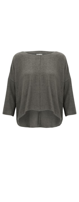 Thing Hannah Supersoft Fleece Rectangle Top Ash