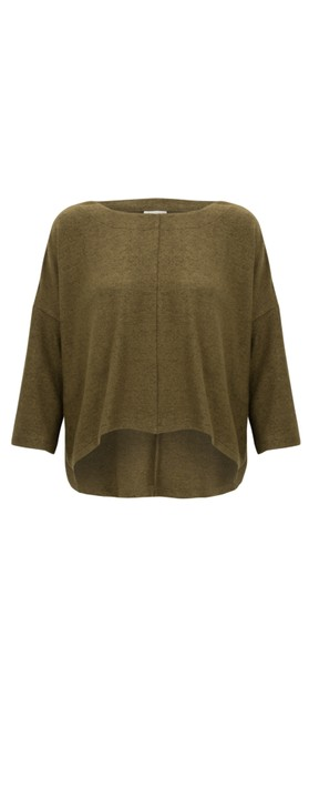 Thing Hannah Supersoft Fleece Rectangle Top ochre