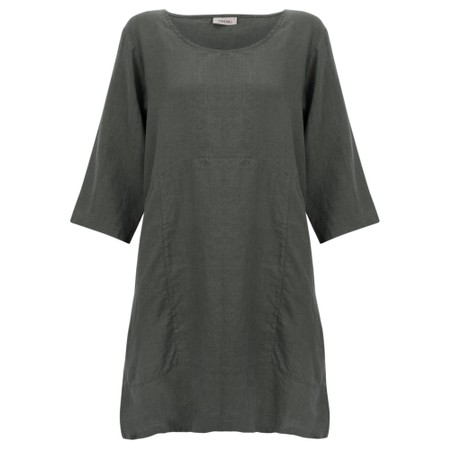 Thing Two Pocket Winter Linen Tunic - Grey