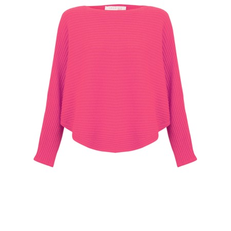 Amazing Woman  Serendipity Batwing Cross Ribbed Jumper - Pink