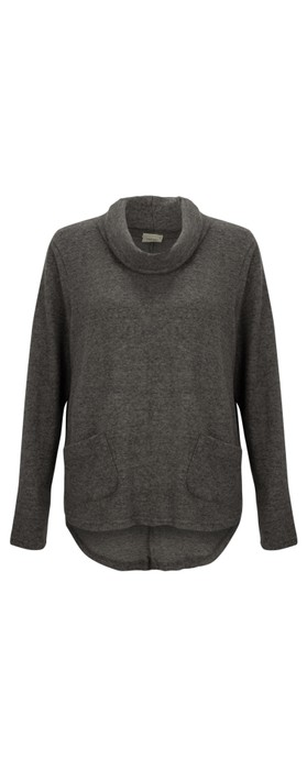 Thing Supersoft Cowl Neck Top - Gemini Exclusive !  Ash
