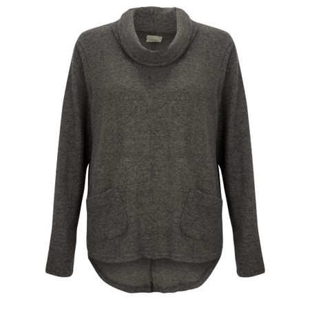 Thing Supersoft Cowl Neck Top - Gemini Exclusive !  - Grey