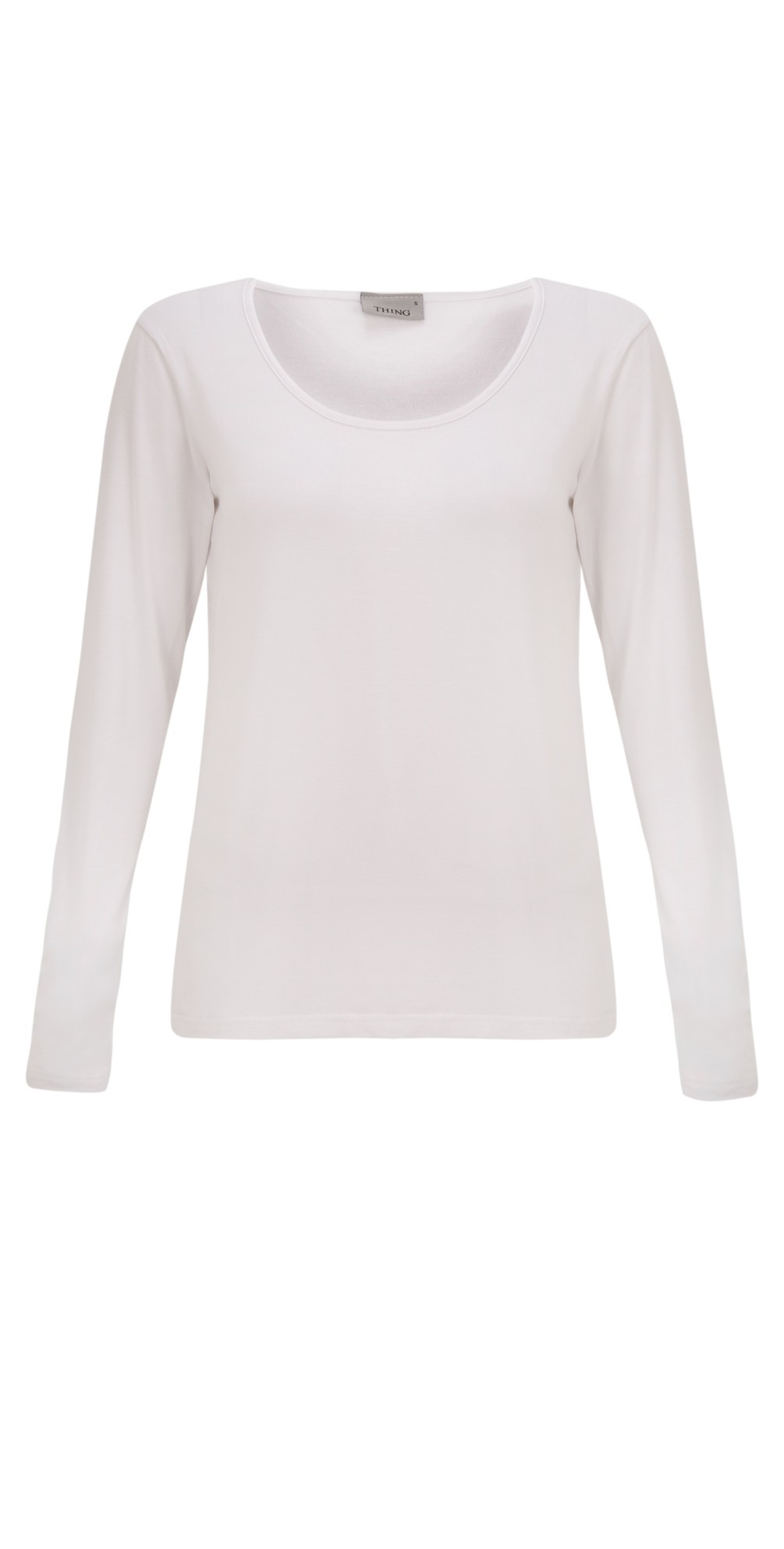 Long Sleeved Round Neck Bamboo Fitted T-Shirt main image