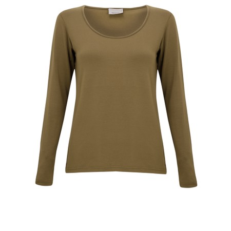Thing Long Sleeved Round Neck Bamboo Fitted T-Shirt - Orange