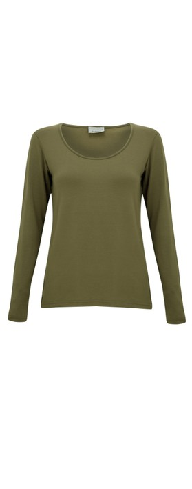 Thing Long Sleeved Round Neck Bamboo Fitted T-Shirt Herb