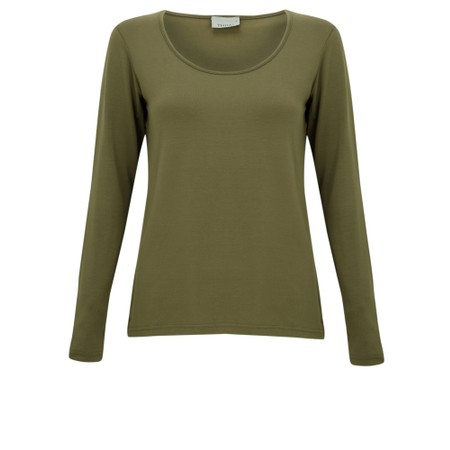 Thing Long Sleeved Round Neck Bamboo Fitted T-Shirt - Green