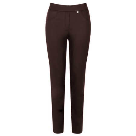 Robell  Rose Bordeaux Faux Leather Trouser - Red