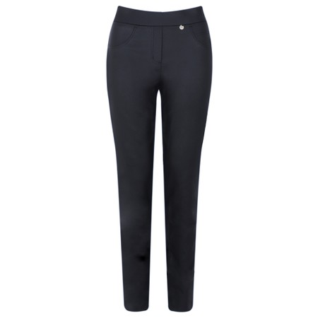 Robell  Rose Navy Faux Leather Trouser - Blue