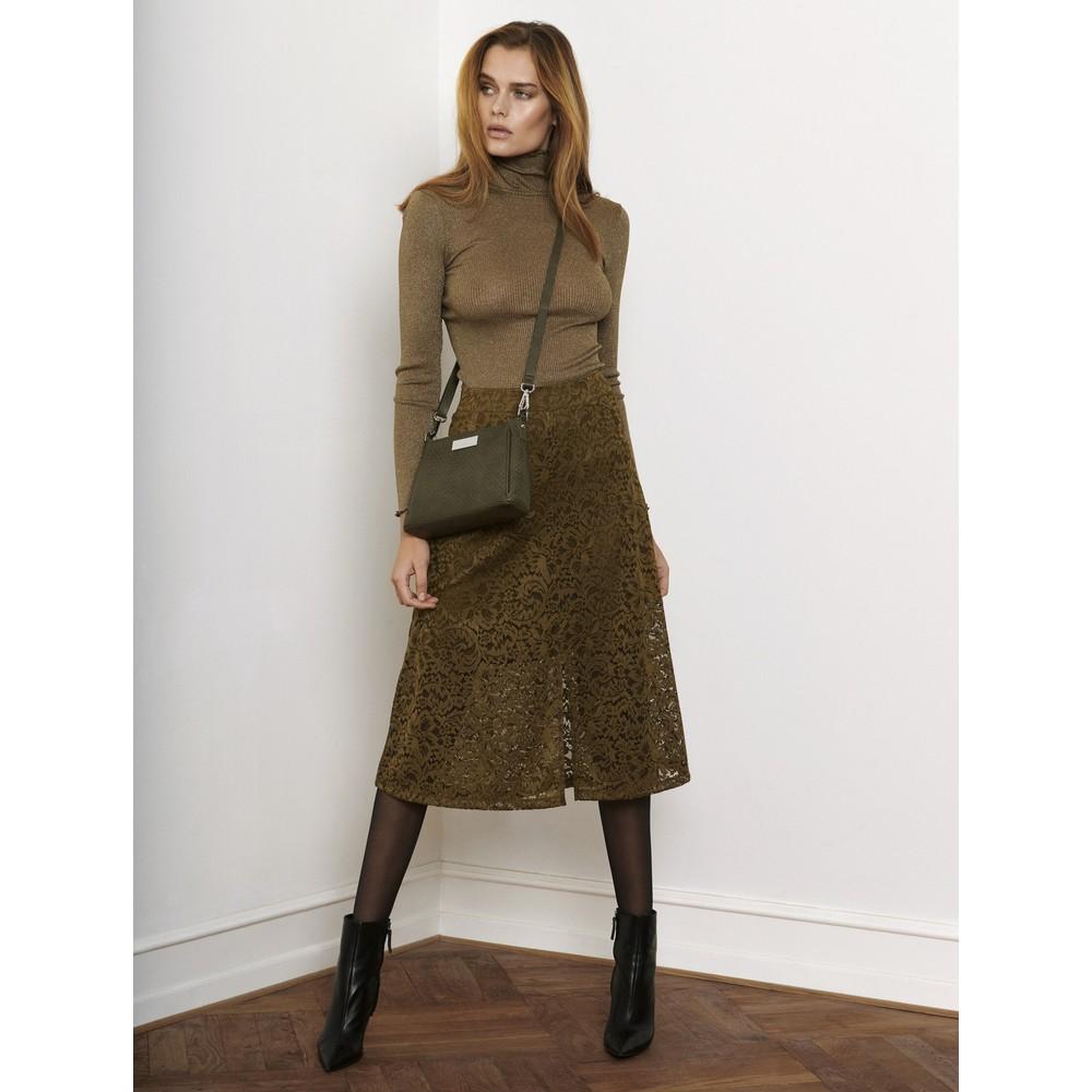 Rosemunde Manacore Lace  Midi Skirt 624-Khaki