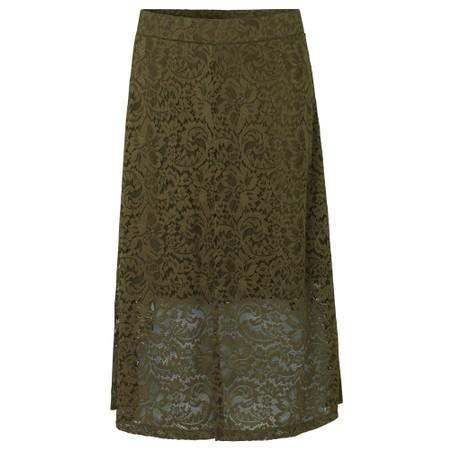 Rosemunde Manacore Lace  Midi Skirt - Green