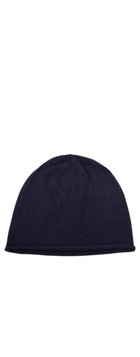 Chalk Helen Supersoft Knit Hat Navy