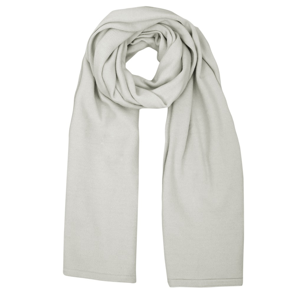 Chalk Suzy Supersoft Knit Scarf Silver