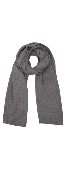 Chalk Suzy Supersoft Knit Scarf Charcoal