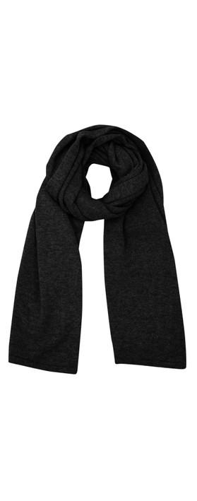Chalk Suzy Supersoft Knit Scarf Black