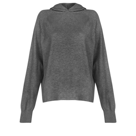 Chalk Hannah Supersoft Knit Hoodie - Black
