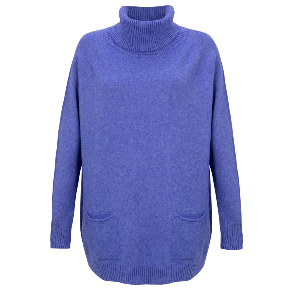 Amazing Woman Anna Two Pocket Relaxed Fit Jumper Royal Marl
