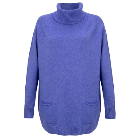 Amazing Woman  Anna Two Pocket Relaxed Fit Jumper - Blue