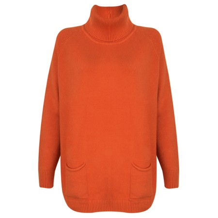 Amazing Woman  Anna Two Pocket Relaxed Fit Jumper - Orange