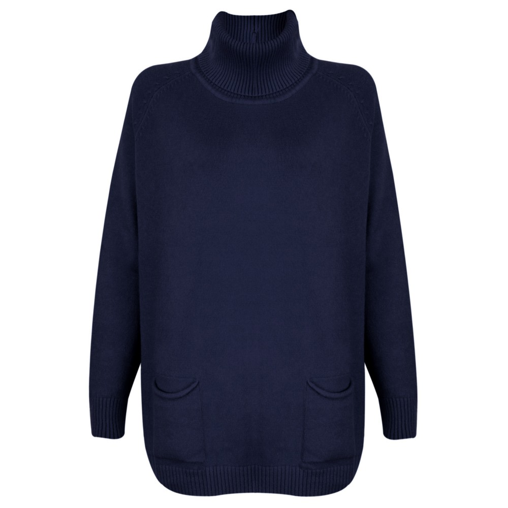 Amazing Woman Anna Two Pocket Relaxed Fit Jumper Navy