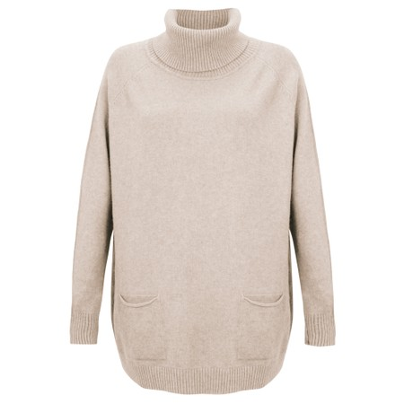 Amazing Woman  Anna Two Pocket Relaxed Fit Jumper - Beige