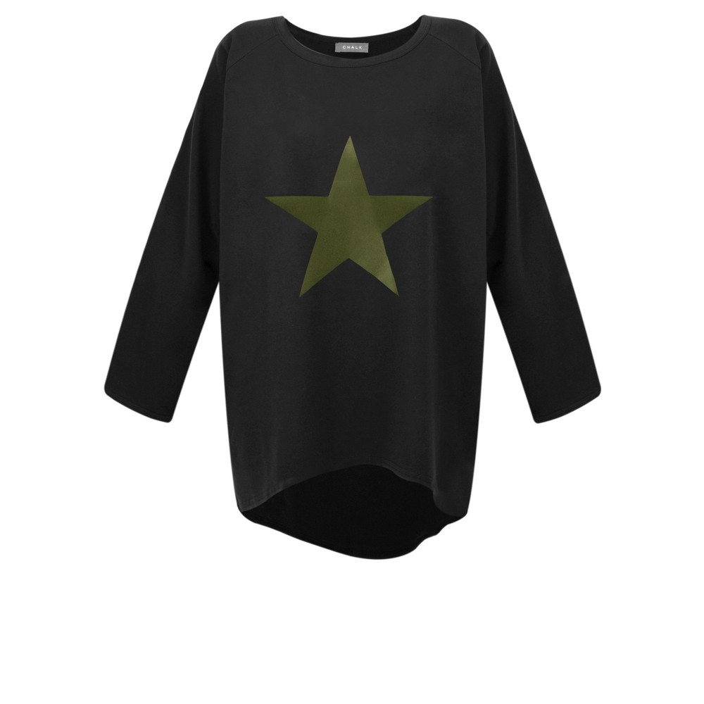 Chalk Gemini Exclusive ! Robyn Star Top Black / Khaki