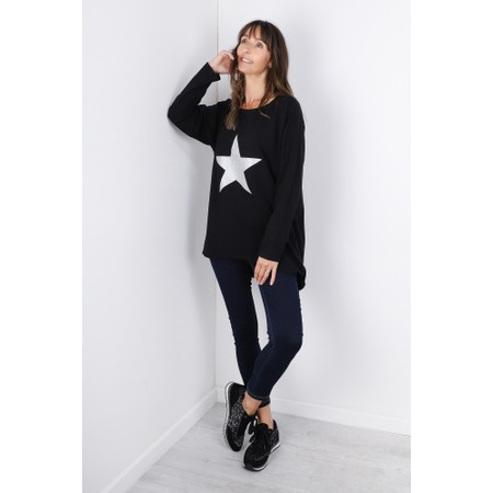 Chalk Robyn Star Top - Black