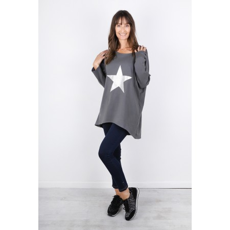 Chalk Robyn Star Top - Grey