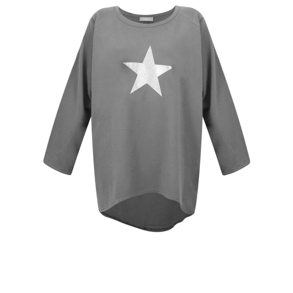 Chalk Robyn Star Top Charcoal / Silver Glitter