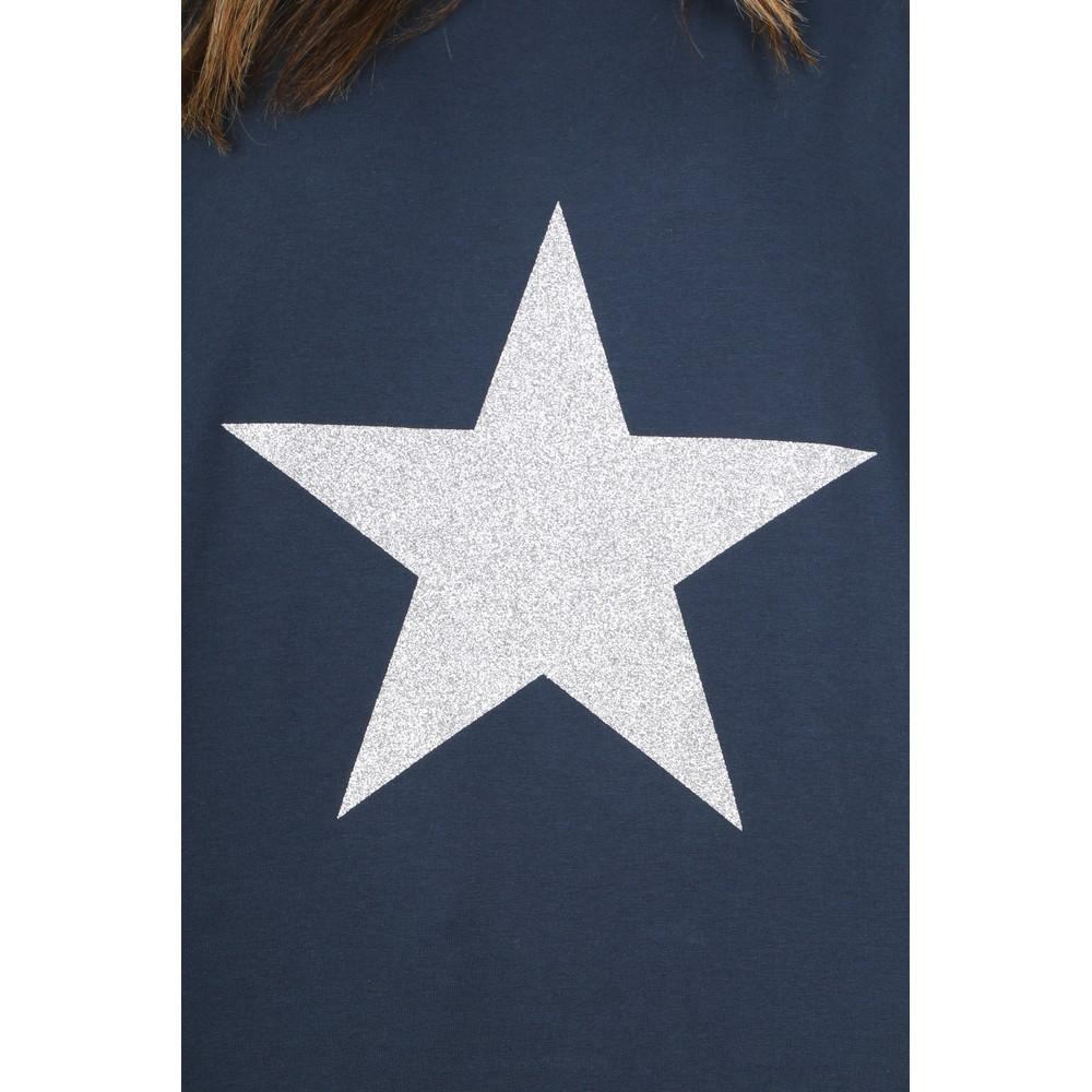 Chalk Robyn Star Top Navy / Silver Glitter