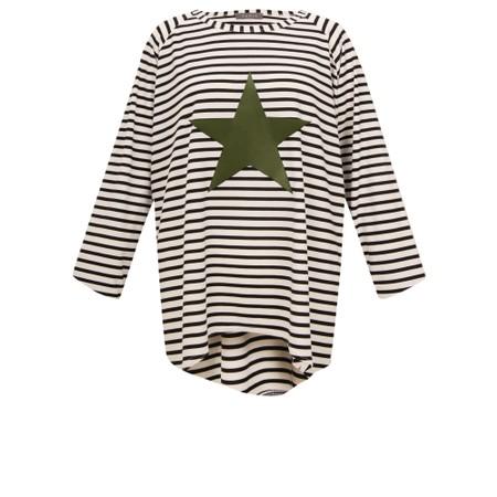 Chalk Robyn Stripe Star Top - Multicoloured