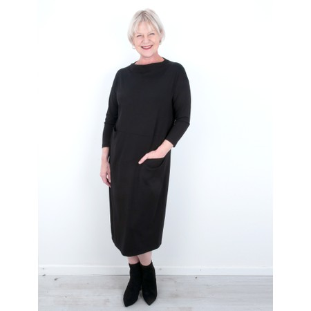 Sahara Lightweight Ponte Bubble Dress - Black