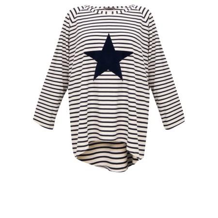 Chalk Robyn Stripe Star Top - Blue