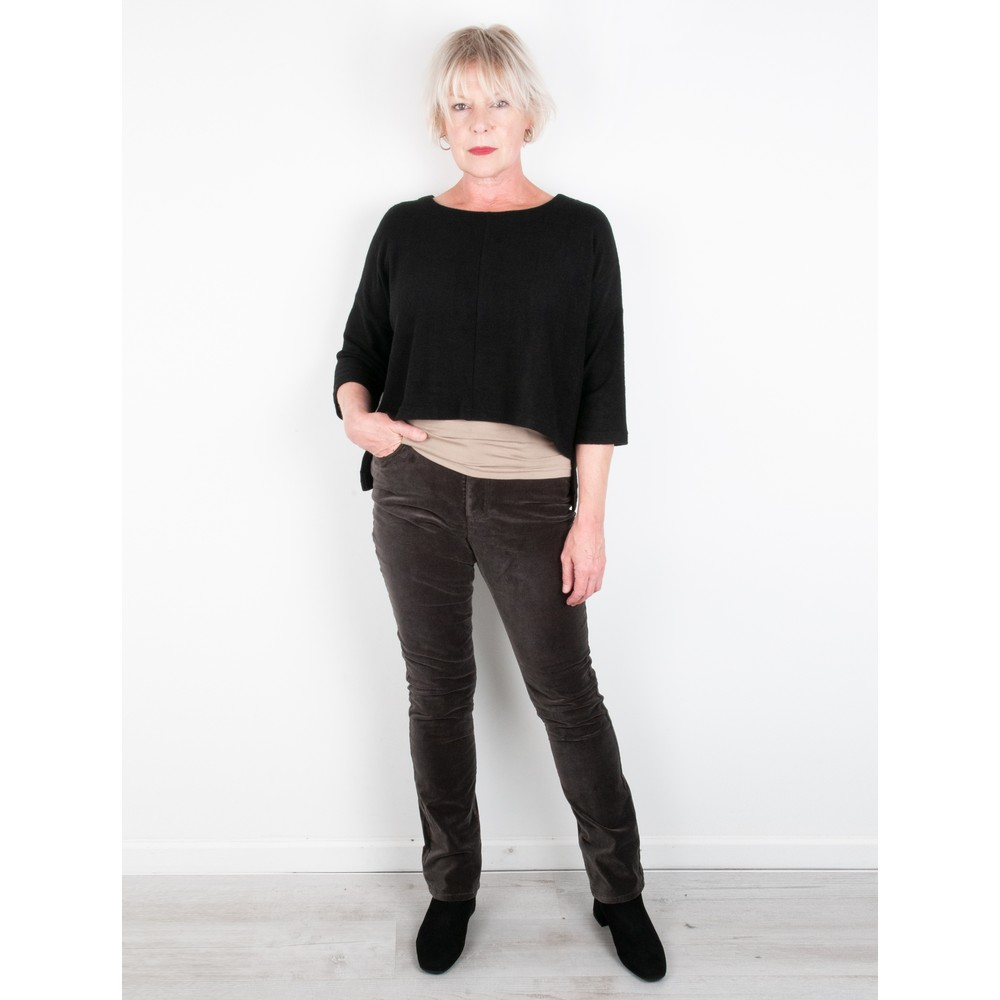 Thing Hannah Supersoft Fleece Rectangle Top Black