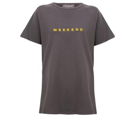 Chalk Darcey Bright Weekend Top - Grey