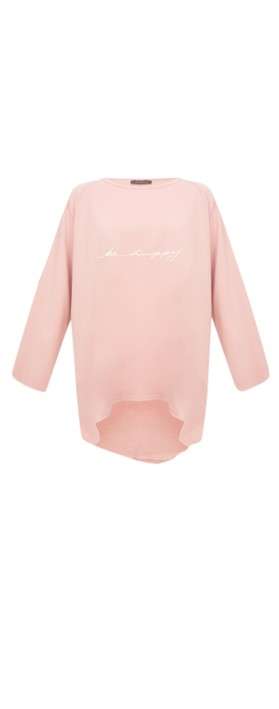 Chalk Robyn Be Happy Top  Pink / White