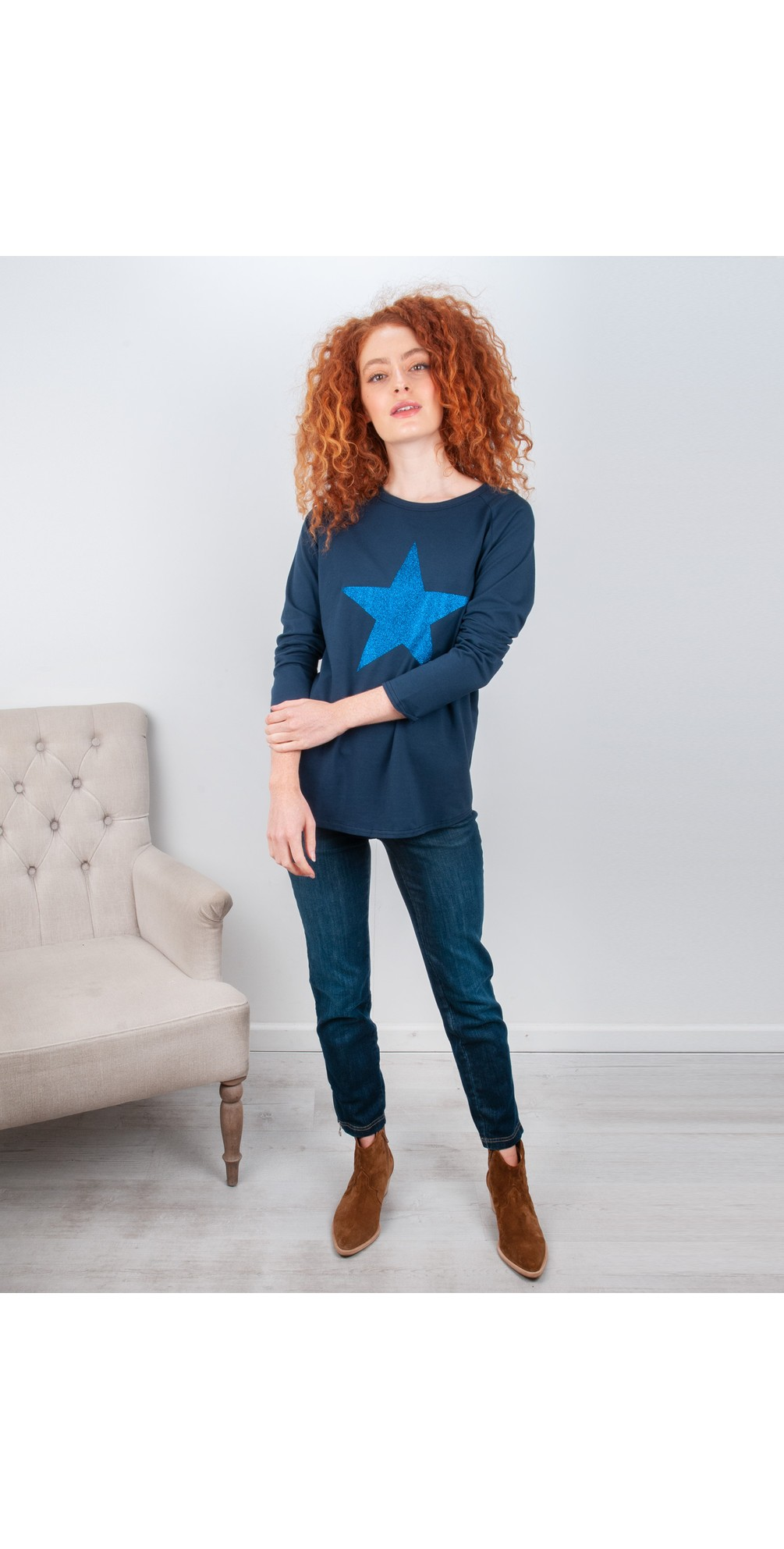 Nena Ankle Zip Cropped Jeans main image